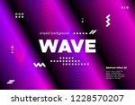3d distorted wave lines....   Shutterstock .eps vector #1228570207
