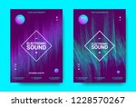 wave music poster with... | Shutterstock .eps vector #1228570267