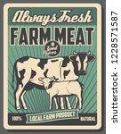 farm market retro poster ...   Shutterstock .eps vector #1228571587