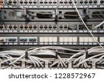 server room with routers and... | Shutterstock . vector #1228572967