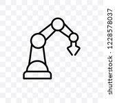 industrial robot vector linear... | Shutterstock .eps vector #1228578037