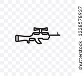 sniper rifle vector linear icon ... | Shutterstock .eps vector #1228578937