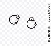 pair of handcuffs vector linear ... | Shutterstock .eps vector #1228579084