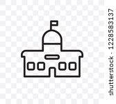 city hall vector linear icon... | Shutterstock .eps vector #1228583137