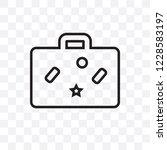 baggage vector linear icon... | Shutterstock .eps vector #1228583197