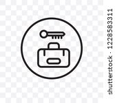 left luggage vector linear icon ... | Shutterstock .eps vector #1228583311
