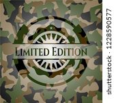 limited edition camouflage... | Shutterstock .eps vector #1228590577