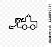 combine harvester vector linear ... | Shutterstock .eps vector #1228593754