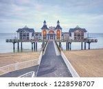 sea bridge with restaurant in... | Shutterstock . vector #1228598707