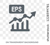 earnings per share  eps  icon.... | Shutterstock .eps vector #1228599781