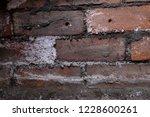 rising damp on brick wall  salt ... | Shutterstock . vector #1228600261