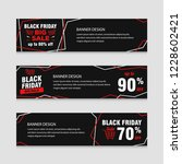 black friday sale banner... | Shutterstock .eps vector #1228602421