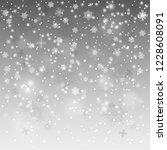 christmas falling snow vector... | Shutterstock .eps vector #1228608091