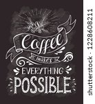 coffee banner with quote on the ... | Shutterstock .eps vector #1228608211