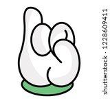 pinky swear  cartoon hand icon   Shutterstock .eps vector #1228609411