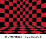 Illustration Of Red Checkered...