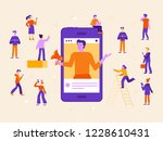 vector illustration in flat... | Shutterstock .eps vector #1228610431