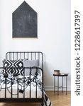 vertical view of blackboard on...   Shutterstock . vector #1228617397