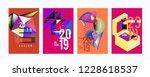 2019 new abstract poster... | Shutterstock .eps vector #1228618537