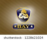 shiny badge with recycling... | Shutterstock .eps vector #1228621024
