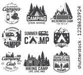 summer camp. vector... | Shutterstock .eps vector #1228633924