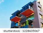facade of contemporary... | Shutterstock . vector #1228635067