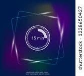 clock neon light icon... | Shutterstock .eps vector #1228650427