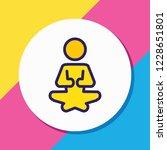 vector illustration of yoga... | Shutterstock .eps vector #1228651801