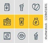 vector illustration of 9 drink... | Shutterstock .eps vector #1228651831