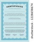 light blue certificate template.... | Shutterstock .eps vector #1228658674