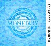 monetary sky blue emblem with... | Shutterstock .eps vector #1228658701