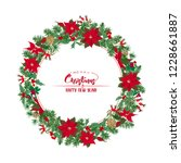 christmas card with a christmas ... | Shutterstock .eps vector #1228661887