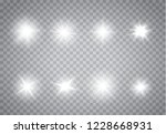 glow isolated white transparent ... | Shutterstock .eps vector #1228668931