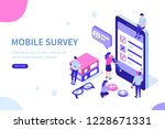 mobile survey concept with... | Shutterstock .eps vector #1228671331