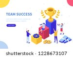 success concept banner. can use ... | Shutterstock .eps vector #1228673107