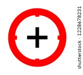 target aim icon  vector target... | Shutterstock .eps vector #1228678231