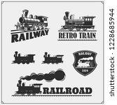 set of retro trains emblems ... | Shutterstock .eps vector #1228685944