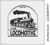 set of retro trains emblems ... | Shutterstock .eps vector #1228685947