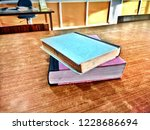 two library books on the table  | Shutterstock . vector #1228686694