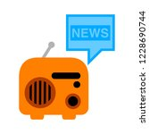 mass media journalism news... | Shutterstock .eps vector #1228690744