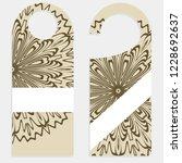 set of door hangers isolated on ... | Shutterstock .eps vector #1228692637
