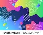 vector abstract pop art pattern ... | Shutterstock .eps vector #1228693744