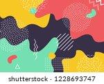 vector abstract pop art pattern ... | Shutterstock .eps vector #1228693747