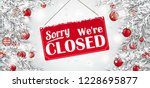 christmas twigs with the sign... | Shutterstock .eps vector #1228695877