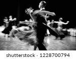 ballroom dance couple dancers... | Shutterstock . vector #1228700794