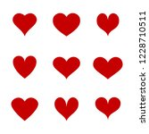 heart icons set isolated on... | Shutterstock .eps vector #1228710511