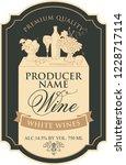 vector label for white wine...   Shutterstock .eps vector #1228717114