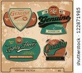 vector label set | Shutterstock .eps vector #122871985