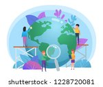 day of the earth concept. small ... | Shutterstock .eps vector #1228720081