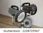 construction floodlights to... | Shutterstock . vector #1228725967